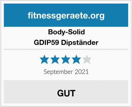 Body-Solid GDIP59 Dipständer Test