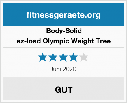 Body-Solid ez-load Olympic Weight Tree Test