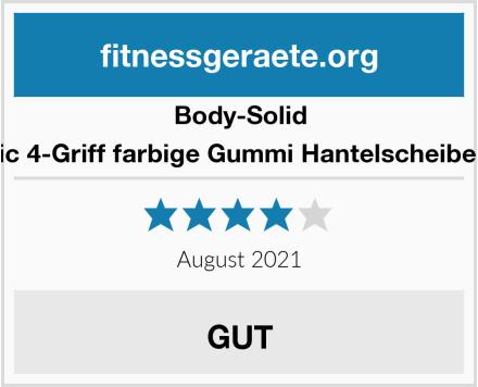 Body-Solid Olympic 4-Griff farbige Gummi Hantelscheibe ORCK Test