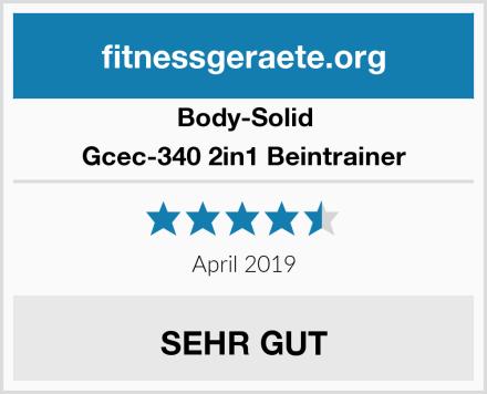 Body-Solid Gcec-340 2in1 Beintrainer Test