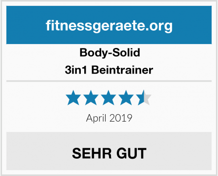 Body-Solid 3in1 Beintrainer Test