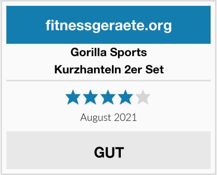 Gorilla Sports Kurzhanteln 2er Set Test