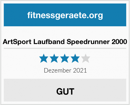 ArtSport Laufband Speedrunner 2000 Test