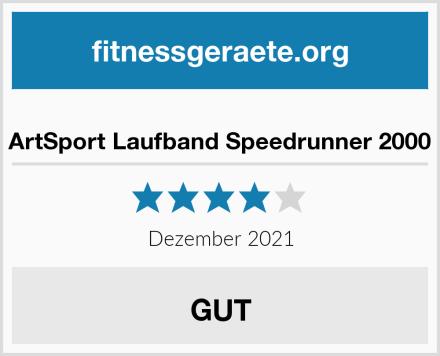 ArtSport Laufband Speedrunner 2000 Test