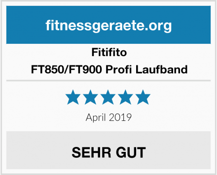 Fitifito FT850/FT900 Profi Laufband Test