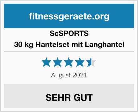 ScSPORTS 30 kg Hantelset mit Langhantel Test