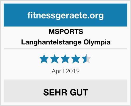 MSPORTS Langhantelstange Olympia Test