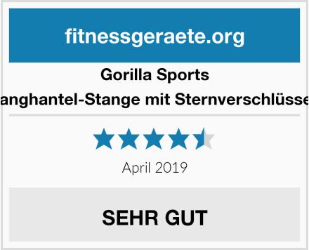 Gorilla Sports Langhantel-Stange mit Sternverschlüssen Test