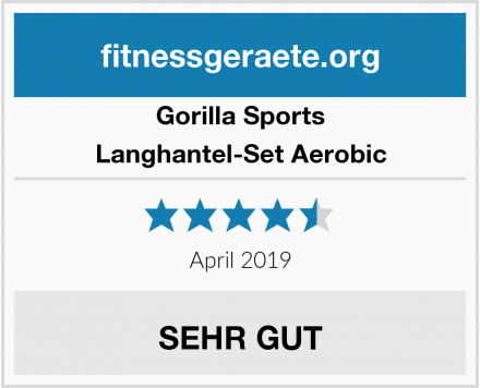 Gorilla Sports Langhantel-Set Aerobic Test
