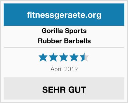 Gorilla Sports Rubber Barbells Test
