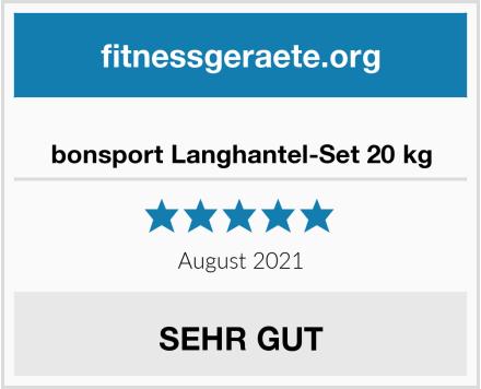 bonsport Langhantel-Set 20 kg Test