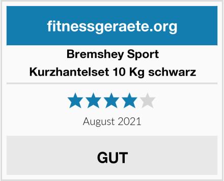 Bremshey Sport Kurzhantelset 10 Kg schwarz Test