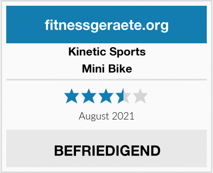 Kinetic Sports Mini Bike Test