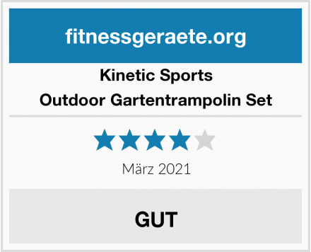Kinetic Sports Outdoor Gartentrampolin Set Test