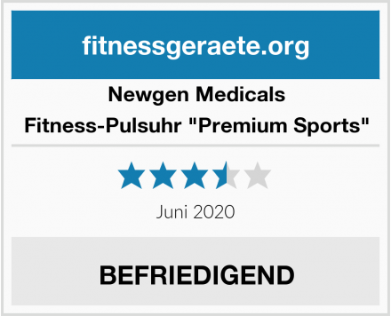"Newgen Medicals Fitness-Pulsuhr ""Premium Sports"" Test"