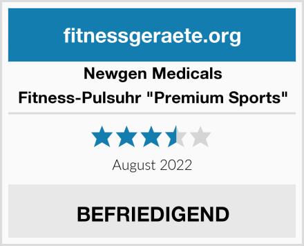 """Newgen Medicals Fitness-Pulsuhr """"Premium Sports"""" Test"""