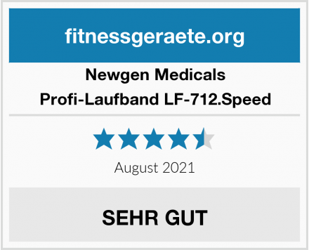 Newgen Medicals Profi-Laufband LF-712.Speed Test