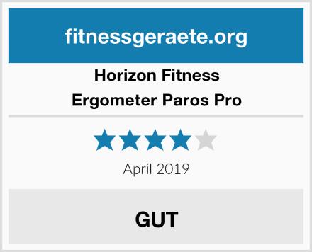 Horizon Fitness Ergometer Paros Pro Test