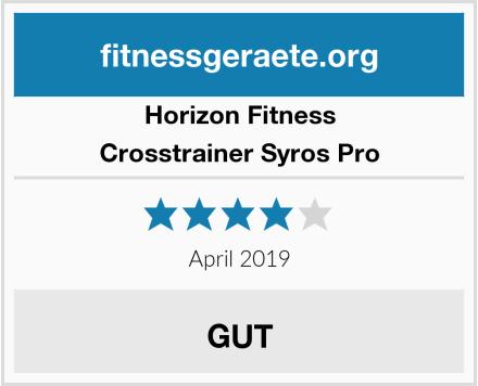 Horizon Fitness Crosstrainer Syros Pro Test