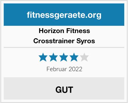 Horizon Fitness Crosstrainer Syros Test