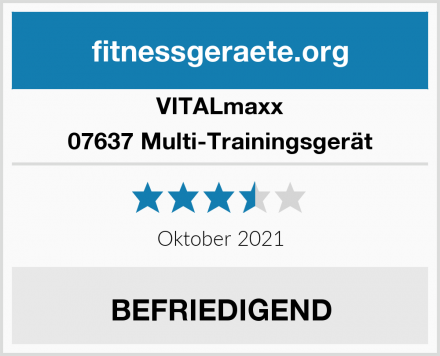 VITALmaxx 07637 Multi-Trainingsgerät Test