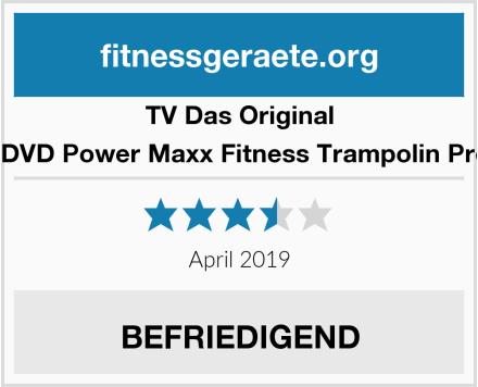 TV Das Original Trainings DVD Power Maxx Fitness Trampolin Professional Test