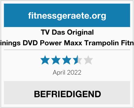 TV Das Original Trainings DVD Power Maxx Trampolin Fitness Test