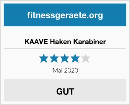 KAAVE Haken Karabiner Test