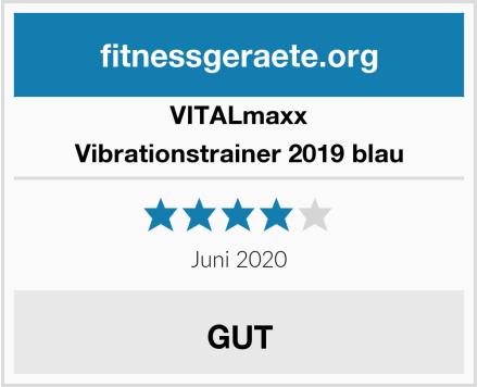 VITALmaxx Vibrationstrainer 2019 blau Test