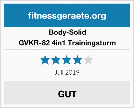 Body-Solid GVKR-82 4in1 Trainingsturm Test