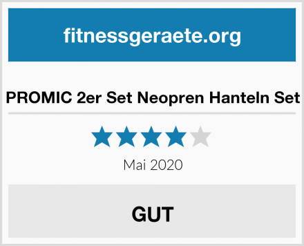 PROMIC 2er Set Neopren Hanteln Set Test