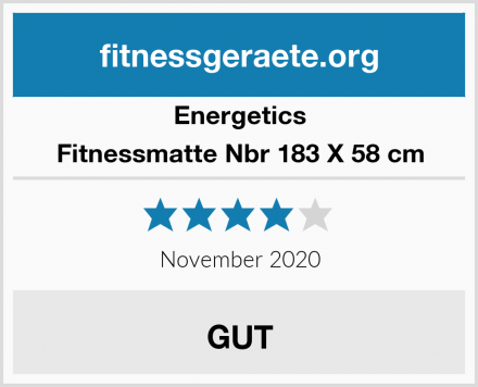 Energetics Fitnessmatte Nbr 183 X 58 cm Test