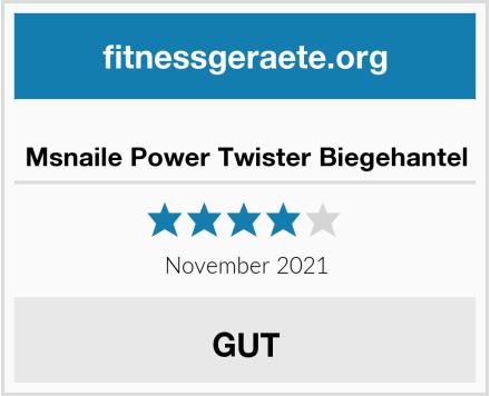 Msnaile Power Twister Biegehantel Test