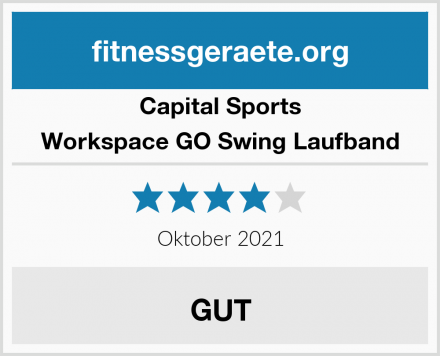 Capital Sports Workspace GO Swing Laufband Test