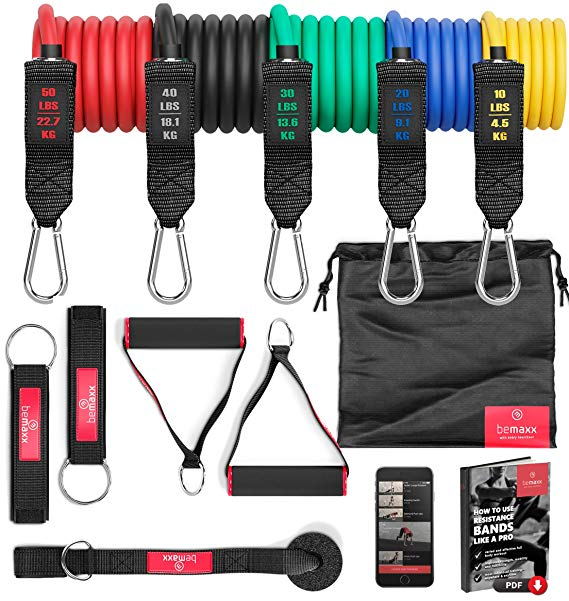 BeMaxx Resistance Bands Widerstandsband Set