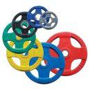 Body-Solid Olympic 4-Griff farbige Gummi Hantelscheibe ORCK