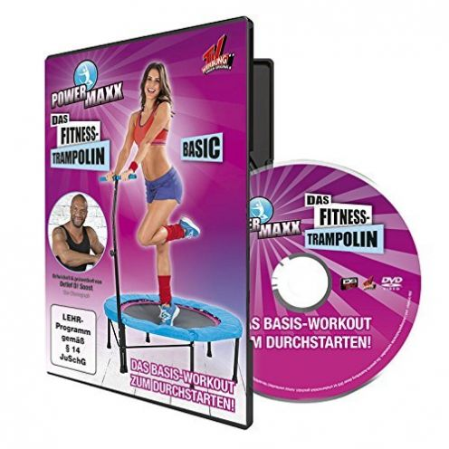 TV Das Original Trainings DVD Power Maxx Fitness Trampolin Basic